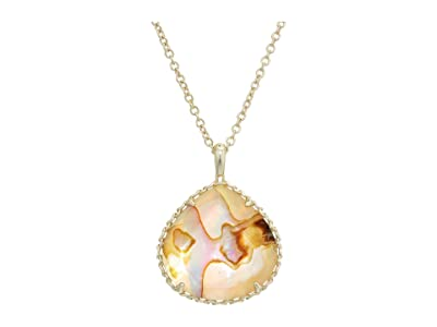 Kendra Scott Kenzie Small Long Pendant Necklace (Gold/Nude Abalone) Necklace