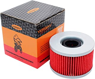 Yerbay Motorcycle Oil Filter for Honda GL650I Silver Wing Intersstate 650 1983 / TRX650FA Rincon 644 2003 2004 2005