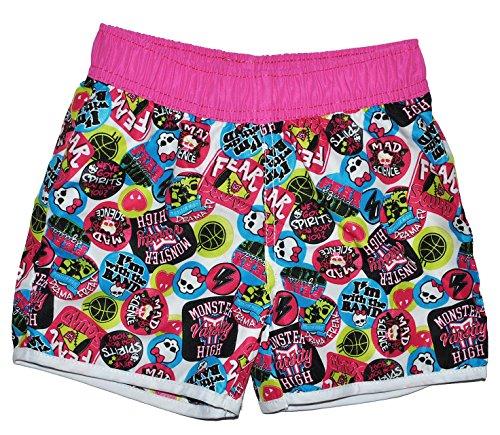 Badehose / Badeshorts / Shorts - Monster High - Größe 8 bis 9 Jahre - Gr. 134 bis 140 - für Mädchen Kinder Badepants oder Hotpants - Kurze Hose - Pants Bermud..