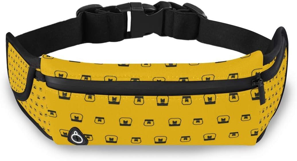 New item ILEEY Honey Pattern with Bees Waist Sport Belt Pack Bag San Antonio Mall Running
