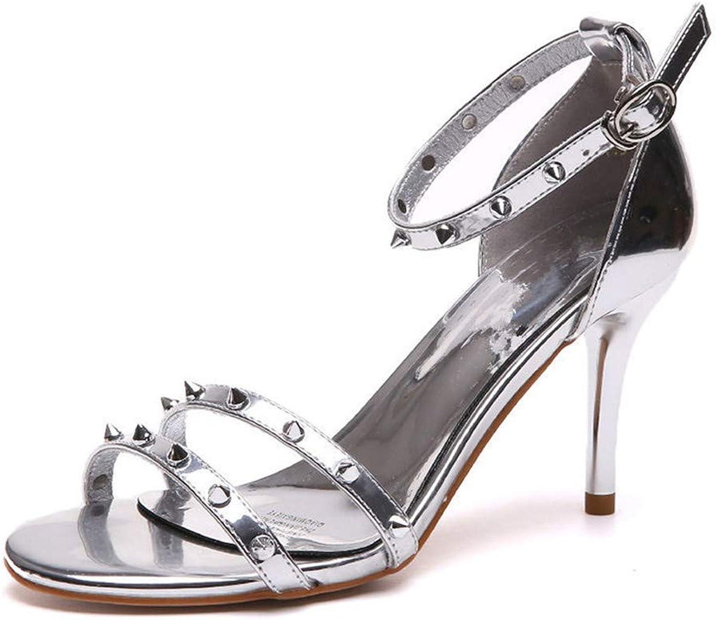 Sandalen Europäische schönheit Schuhe künstliche pu Mode 8 cm sexy Wort niet offene Spitze Sandalen Schnalle    Moderne und stilvolle Mode    Bestellungen Sind Willkommen    Deutschland