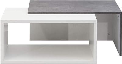 Table Basse Bois Noir/Béton 70 x 35 x 40 cm, TemaHome