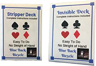 London Magic Works (Blue Stripper Deck, Invisible Deck, and Over 125 Tricks Combo with Two Decks and Tricks