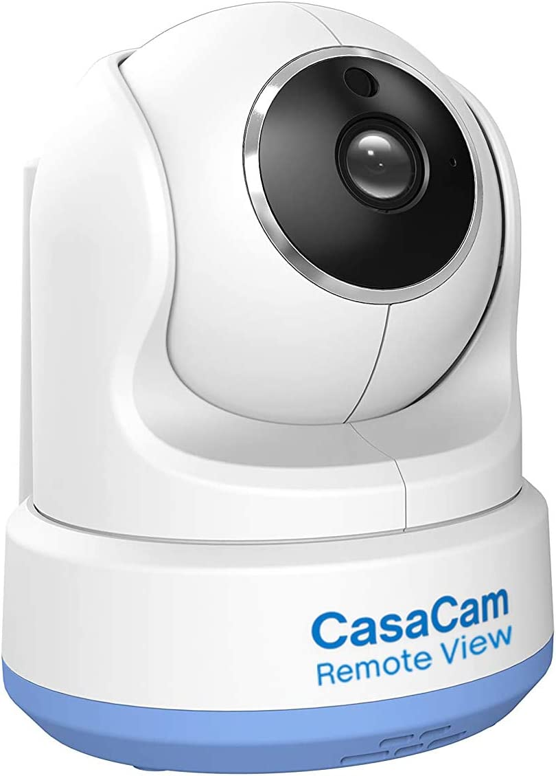 CasaCam BC200 Pro, Remote View Feature, Digital Wireless HD Pan & Tilt Baby Camera, Add-on Camera for BM200, BM200 Pro, Two-Way Audio, Night Vision, Temperature Monitoring, Night Light and Lullabies