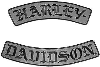 Harley-Davidson Embroidered H-D Script Emblem, 3X Size, 12 x 2.5 inch EM022757