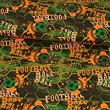 Baumwolljersey Fußball grün Kinderstoffe Modestoffe -