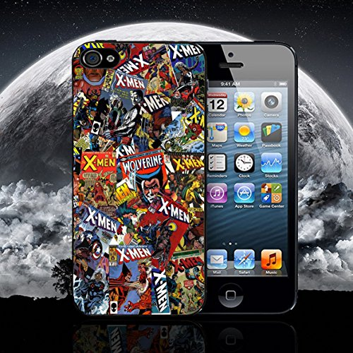 PHONE BOX GLOBAL Nuevo DC de cómics de X-Men Marvel teléfono móvil Funda Protectora para Apple iPhone 5–5S Negro Funda
