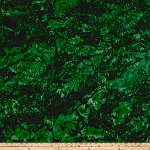 Hoffman Bali Batik Watercolors Christmas Green, Fabric by the Yard