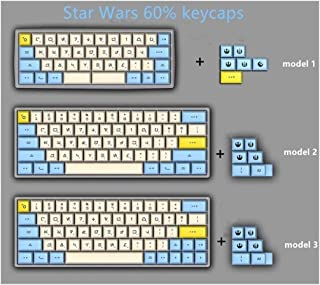 Colore : Blue Keyboard keycaps 120-key XDA Contour PBT Keycap Dye Sublimation Five-Sided Mechanical Keyboard Key Cover