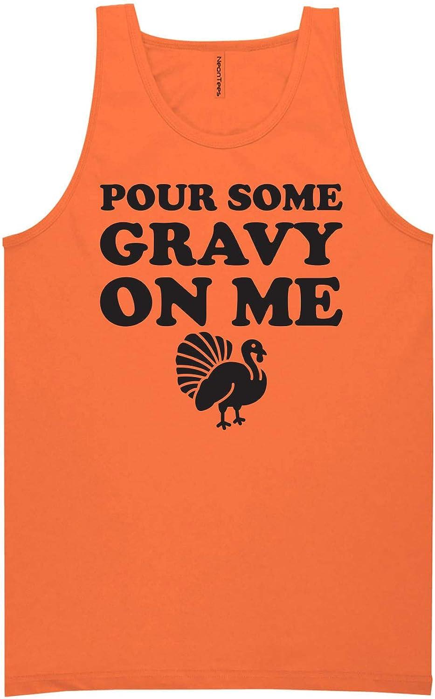 Pour Some Gravy On Me Neon Orange Tank Top - XX-Large