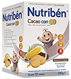 Nutribén Papilla Cacao con Galletas Maria, Desde 12 meses, 500g
