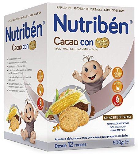 Nutriben Papilla Cacao con Galletas Maria - 500 gr