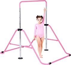 Dai&F Gymnastics Bars Kids Kip Training Bars for Home, Folding Horizontal Bars with Adjustable Height, Junior Training Bar...