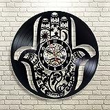 Gullei.com Reloj de pared de vinilo creativo con diseño de
