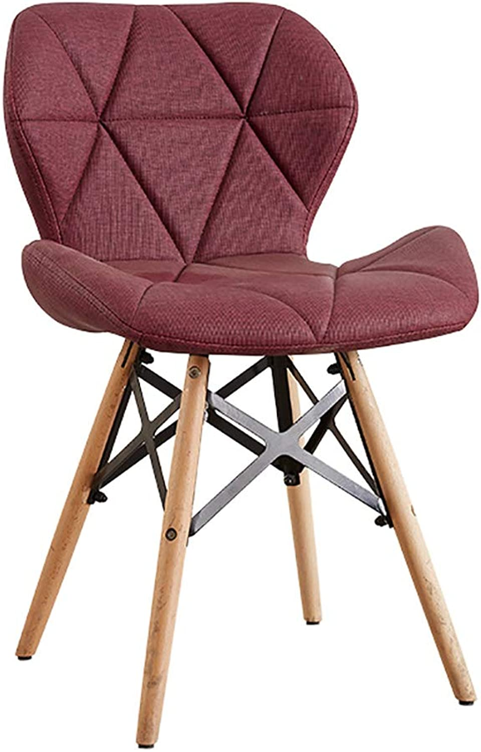 Creative Computer Chair Modern Study Home Makeup Stool backrest Dining Chair (color   D)