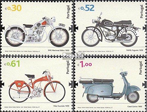 Portugal 3210-3213 (complète.Edition.) 2007 Motos (Timbres pour Les collectionneurs) Circulation routière