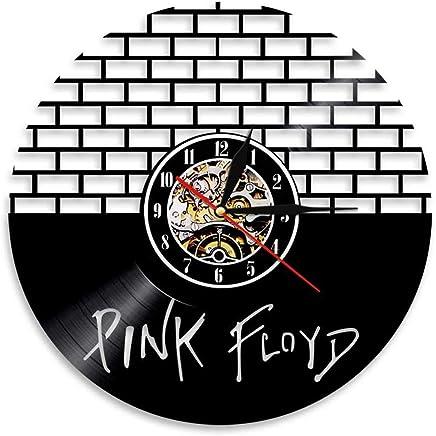 Pink Floyd 1972 concert Vintage rétro en métal étain signe Horloge Murale