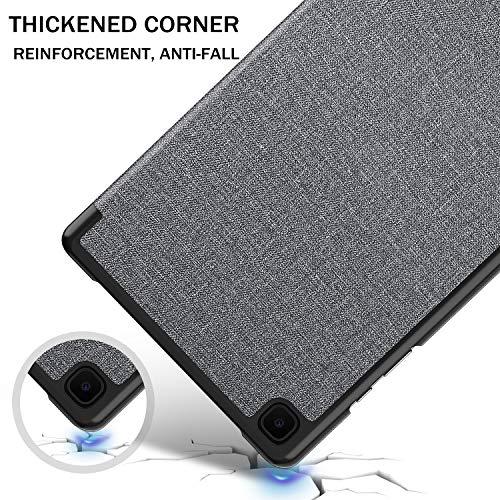 IVSO Hülle Kompatibel mit Samsung Galaxy Tab A7 10.4 2020, Schlank Slim Hülle Schutzhülle Hochwertiges PU mit Standfunktion, Samsung Galaxy Tab A7 T505/T500/T507 10.4 Zoll 2020, Gray