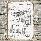 Ellis 1939 Selmer Trompeta Vintage Retro Metal Estaño Sign Decoración de Pared para Store Man Cave Bar Home Garage