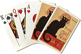 Chat Noir Cabaret Troupe Black Cat - Vintage Advertisement (Playing Card Deck - 52 Card Poker Size with Jokers)