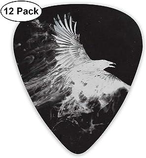 Púas para Guitarra 351 Forma Púas de guitarra clásica Eagle Art Pattern Plectrums Instrumento Standard Bass 12 Pack