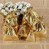 HOMIXES 100 Stück Glänzende Schmuckbeutel Jutesäckchen Jutebeutel Geschenksäckchen Wiederverwendbare Schmuck Säckchen mit Tunnelzug für Schmuck Hochzeit Party Feiern Weihnachten DIY Handwerk