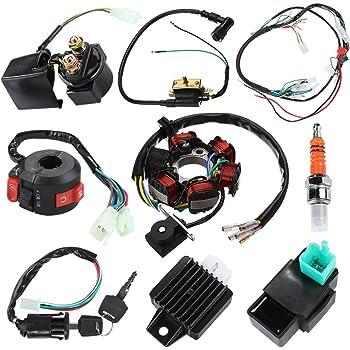 Amazon Com Annpee Complete Electrics Stator Coil Cdi Wiring Harness For 4 Stroke Atv Klx 50cc 70cc 110cc 125cc Automotive