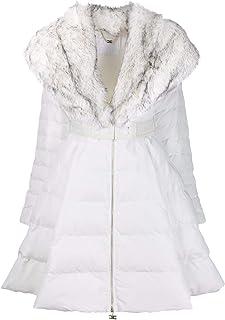 ELISABETTA FRANCHI Luxury Fashion Womens PI11Z96E2360 White Down Jacket | Fall Winter 19