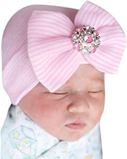 Evelin LEE Baby Infant Lovely Floral Embroidered Floppy Wide Brim Sun Cap Summer Outdoor Baby Girl Boy Sun Beach Cotton Hat-Style 2 Pink