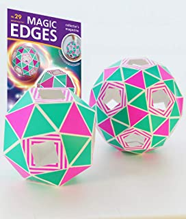 Magic Edges / Archimedean Solids for Creating 3D Origami - Two semiregular Polyhedrons. Origami for Beginners. Polyhedra 3...