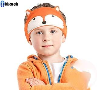 Charlxee Kids Bluetooth Headphones Children Girls Boys Teens Volume Limiting Foldable and Durable Headphone Headband for School, Home and Travel - Orange Fox