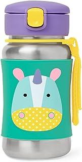 Skip Hop Zoo Stainless Steel Little Kid Straw Bottle, Eureka Unicorn