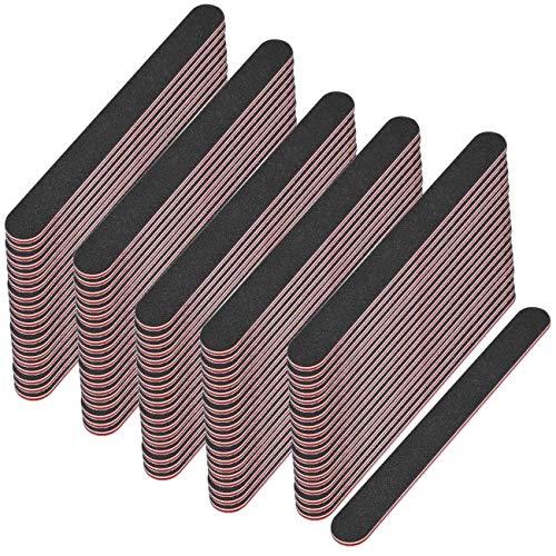 100 x nagel-feilen Set professionnel noir droit granulation 180/100