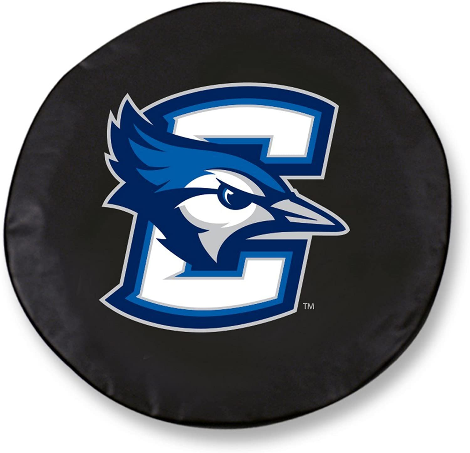 Creighton blueeejays HBS Black Vinyl Fitted Spare Car Tire Cover