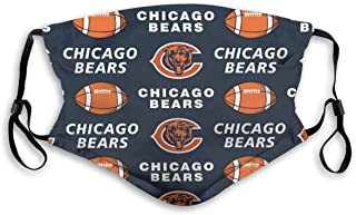 Chicago Bears men/women face mask reusable washable with adjustable ear loops made in USA