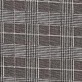 Hosenstretch Baumwolle Glencheck – weiss/schwarz —