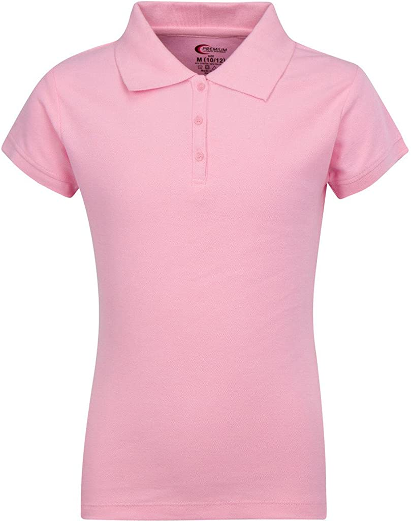 Premium Short Sleeves Girls Polo Shirts – ScotchGuard Treated, Stain Resistant at  Women's Clothing store