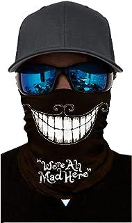 Ecosunny Bandana Face Mask Neck Gaiter, Cool Unisex Scarf Mask Tube Multifunctional Headwear, Buff Face Mask