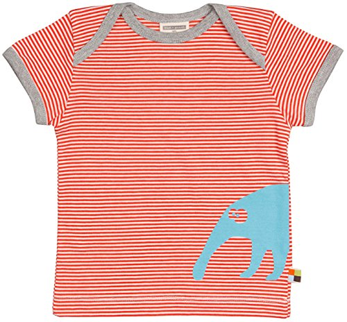 loud + proud loud + proud Unisex Baby T-Shirts Ringel, Orange (Sunrise Su), 68 (Herstellergröße: 62/68)