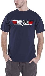 Top Gun Distressed Logo Hombre Camiseta Azul Marino, Regular