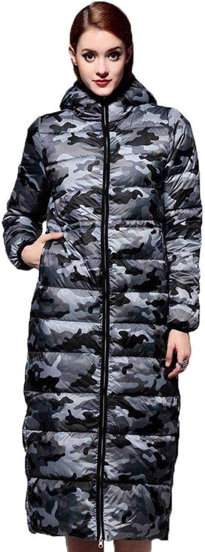 RSTJ-Sjc Daunenjacke Winter neue Gre Damen High-End-Camouflage mit Kapuze dicken langen Abschnitt über der Knie Daunenjacke