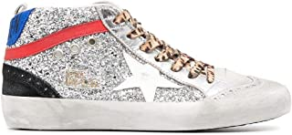 Golden Goose Luxury Fashion Donna GWF00122F00027080272 Argento Pelle Hi Top Sneakers   Ss21