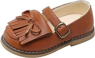 WINJIN Chaussures Enfants Premier Pas Filles Mocassins et Loafers Fille Style Britannique Chaussures Bébé Cuir Souples Tas...