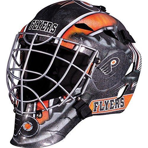Franklin Sports NHL Philadelphia Flyers Hockey Goalie Face Mask - Goalie Mask for Kids Street Hockey - Youth NHL Team Street Hockey Masks