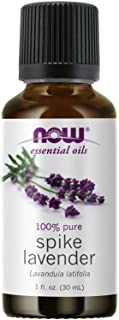 NOW Essential Oils, Spike Lavender, Floral Aromatherapy Scent, Steam Distilled, 100% Pure, Vegan, 1-Ounce