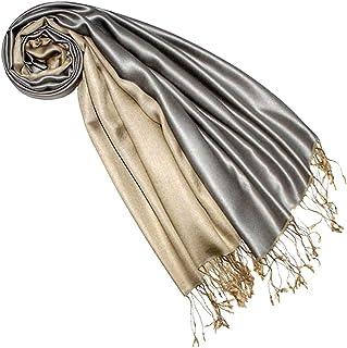 Lorenzo Cana Pashmina Damenschal Wendeschal 70% Seide 30% Viskose Schaltuch 70 x 190 cm zweifarbig Schal