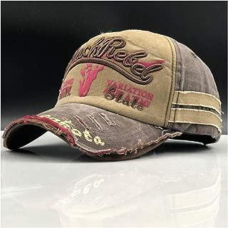 Brand Men Baseball Caps Dad Casquette Women Snapback Caps Bone Hats for Men Fashion Vintage Gorras Letter Cotton Cap` TuanTuan (Color : Khaki, Size : 56-60CM)