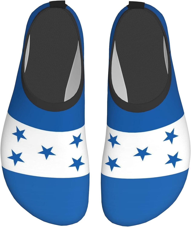 Paiyxxycv Honduras Honduran Flag Mens and Womens Water Shoes Barefoot Quick-Dry Aqua Yoga Socks Slip-On for Beach Sports Swim Snorkeling