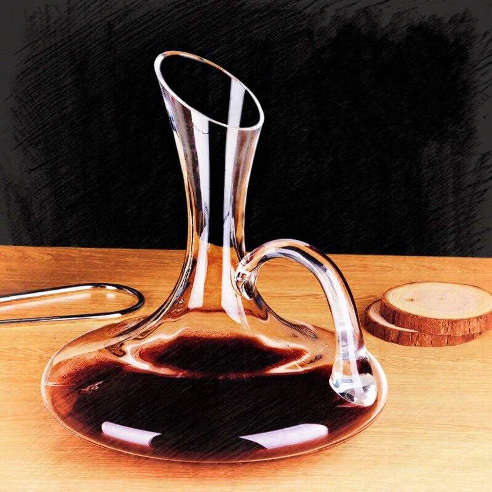 Europeo Cristal Decantador De Vino En Forma De U Clásico Aireador De Vino Decantador Plomo-Gratis Decantador De Vino Y Aireador Decantador Creativo Decantador para Vino por Cristal A Mano-n 2l