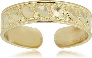 Mia Diamonds 14K Yellow Gold Greek Key Adjustable One Size Fits All Toe Ring